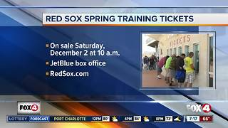 Red Sox spring training tickets to go on sale Saturday
