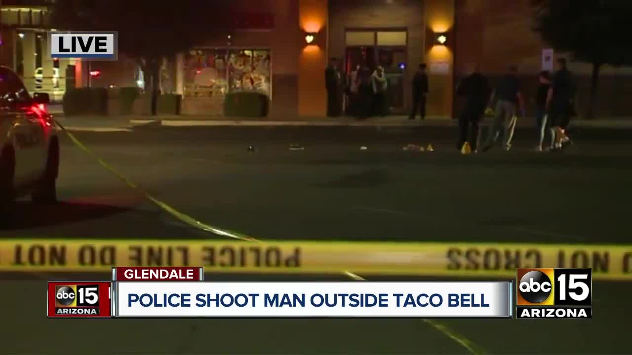 Police shoot man outside Taco Bell in Glendale