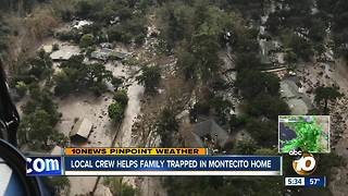 Local Coast Guard crew helps family trapped in Montecito home - Video