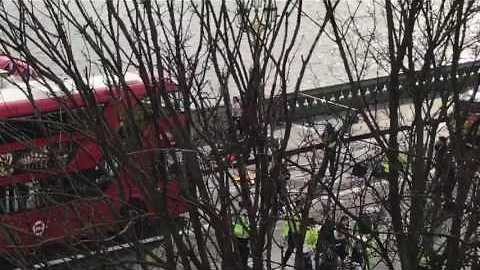Emergency Services Carry Away Injured After Westminster 'Terrorist Attack'