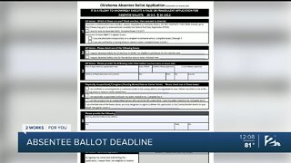 Deadline today for absentee ballot application ahead of Oklahoma primary elections