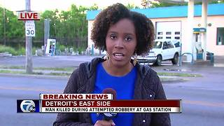 Man shot multiple times, killed at gas station on Detroit's east side - Video