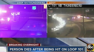 Deadly pedestrian crash on L-101 near Thunderbird - Video