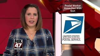 Letter carrier assaulted with gun - Video