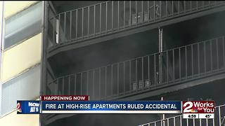 Fire at University Club Tower apartments ruled accidental - Video