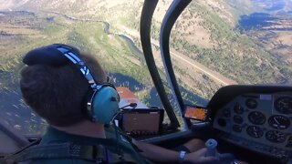 Flying into the Frank Church Wilderness to the river of no return