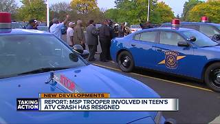 MSP trooper involved in ATV crash that killed Detroit teen resigns, report - Video