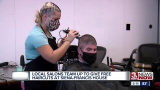 Local salons team up to give free haircuts at Siena Francis House