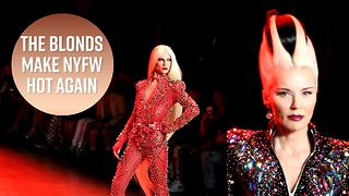 Daphne Guinness models for The Blonds at NYFW - Video