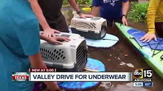 Underwear drive underway for Hurricane Harvey victims - Video