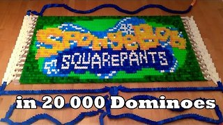 20,000 Dominos Recreate Characters From Spongebob Squarepants - Video