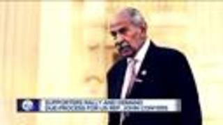 Rally for John Conyers for due process amid sexual harassment allegations - Video