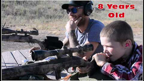 8 yr. old Shooting his 22 Rifle and Mom's 6.5 by Wapp Howdy