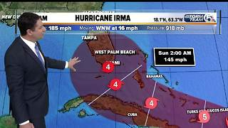 8 A.M. Wednesday Hurricane Irma: Winds remain at 185 mph