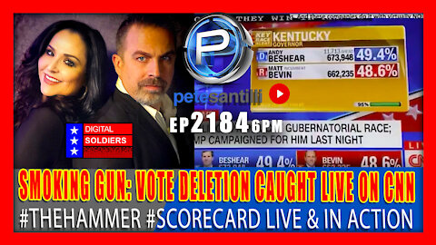 EP 2084-6PM SMOKING GUN: ELECTRONIC VOTE FRAUD CAUGHT LIVE ON CNN! #THEHAMMER #SCORECARD