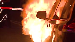 Behind the scenes of a car fire with North Collier Fire & Rescue - Video