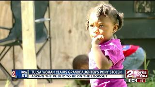 Tulsa woman claims granddaughter's pony was stolen - Video