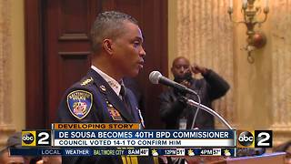 De Sousa now 40th Baltimore Police Department commissioner - Video