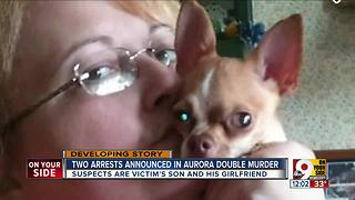 Victim's son, girlfriend charged in double homicide near Aurora, Indiana - Video