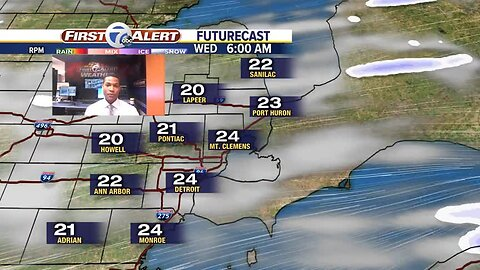 The cold arrives tonight