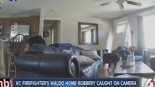 KC firefighters Waldo home robbery caught on camera - Video