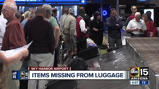 Man searching for missing luggage after leaving Sky Harbor - Video