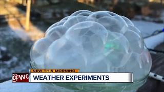 How to freeze bubbles with your kids in these frigid temperatures - Video