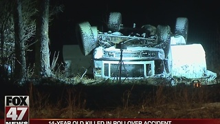 Teen killed in rollover crash Saturday night - Video