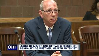 Judge dismisses one of two charges of bestiality against MSU health physicist