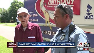 KCK Community Policing Unit helps 90-year-old veteran in need