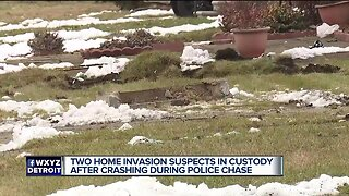 2 home invasion suspects in custody after crashing during police chase