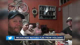 Volcanic activity forces Milwaukee area natives from Hawaii home - Video