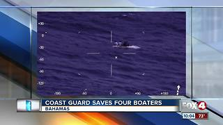Coast Guard Saves Four Boaters - Video