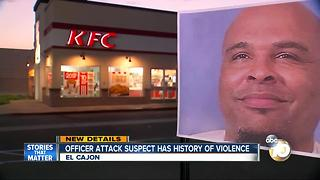 Officer attack suspect has history of violence - Video
