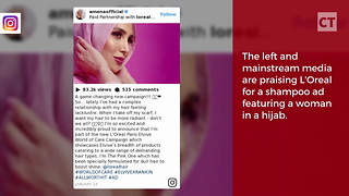Shampoo Ad Features Model in Hijab - Video
