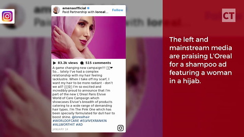 Shampoo Ad Features Model in Hijab