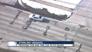 Sterling Heights proposes emergency tax supplement to pay for road repairs - Video