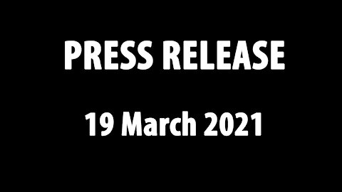 Press Release - 19 March 2021 - Amazing Discoveries Ministries Africa