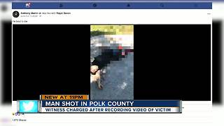 Polk man arrested after recording shooting victim on Facebook live, delaying before calling 911 - Video