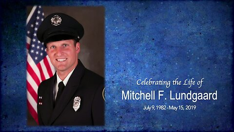 Mitchell Lundgaard's funeral and post-funeral procession