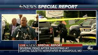 At least 5 dead in Annapolis newspaper office shooting - Video
