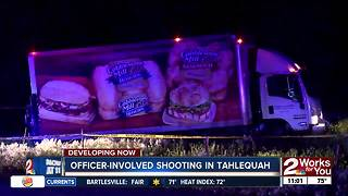 Bread truck burglary suspect hit in Tahlequah officer-involved shooting - Video