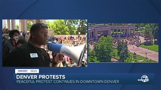 'We gotta show up for our Black family members': Watch Tay Anderson's speech to the crowd during George Floyd protest