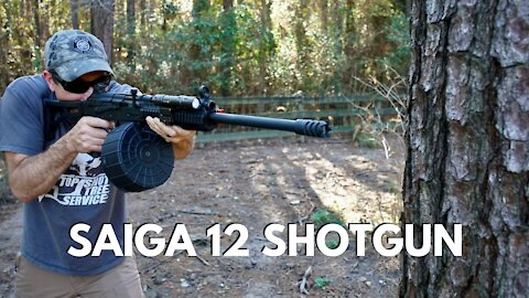 12 Gauge AK47 (Tromix Saiga 12) VS TREE!