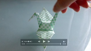 Origami No.3 tsuru (crane) - Japanese folding paper art - Video