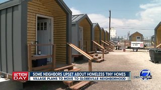 Some neighbors upset about homeless tiny homes move