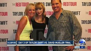 Day 3 of Taylor Swift groping trial gets underway in Denver - Video