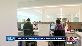 Last day to register cars during grace period