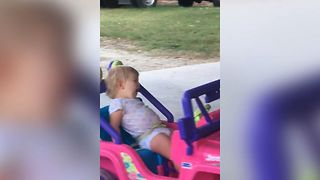 Tired Tot Drives Toy Car A Lot - Video