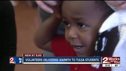 Knitten Kittens delivers hand-made hats and scarves to Tulsa schools
